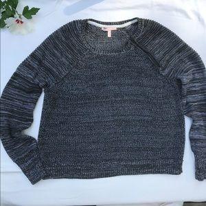 Victoria's Secret zipper shoulder sweater large